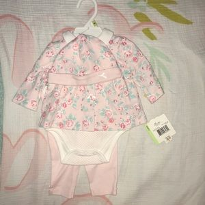 Little me 3 piece set 3 month